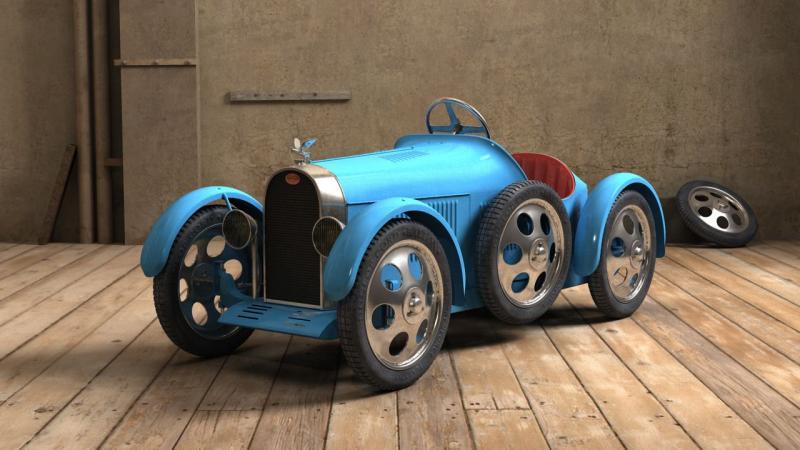 eur ka course grand prix type bugatti en 3d voiture p dales com. Black Bedroom Furniture Sets. Home Design Ideas